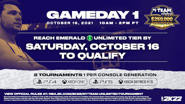 NBA 2K22 tipping off MyTEAM Unlimited Tournament