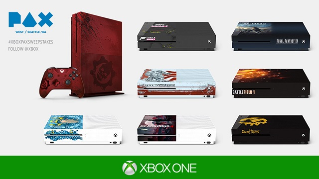 Custom Xbox One S consoles to be given away during PAX West