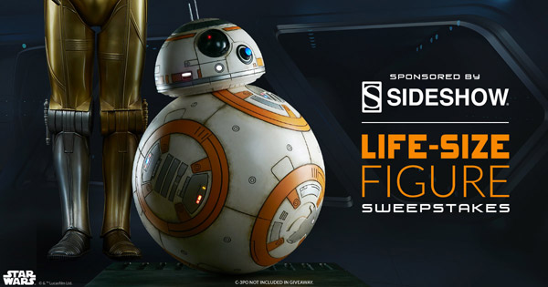 Sideshow announces Comic-Con signing schedule and life-size BB-8 giveaway