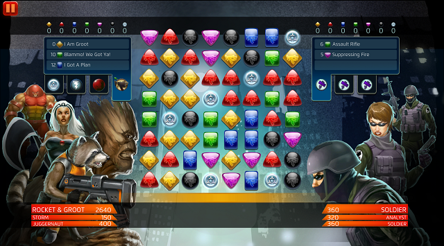 Guardians will soon be guarding Marvel Puzzle Quest galaxy