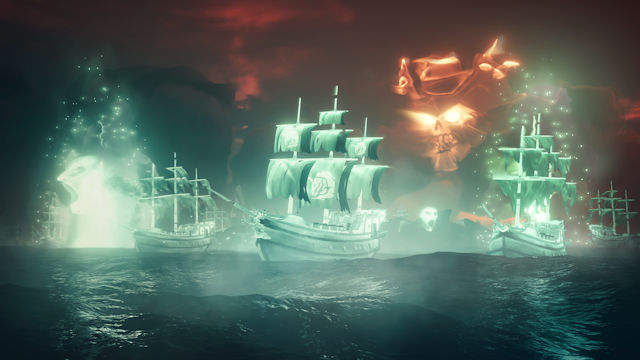 Ghost ships sighted in Sea of Thieves