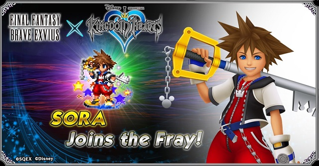 Kingdom Hearts crossing over into Final Fantasy Brave Exvius