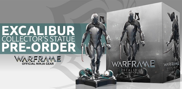Warframe Excalibur Statue available at Comic-Con