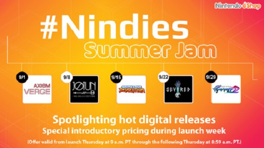 Nintendo eShop running Nindies Summer Jam in September