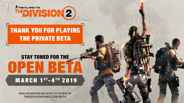 The Division 2 Open Beta dates set