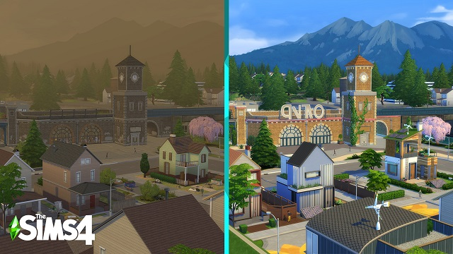 The Sims are going green