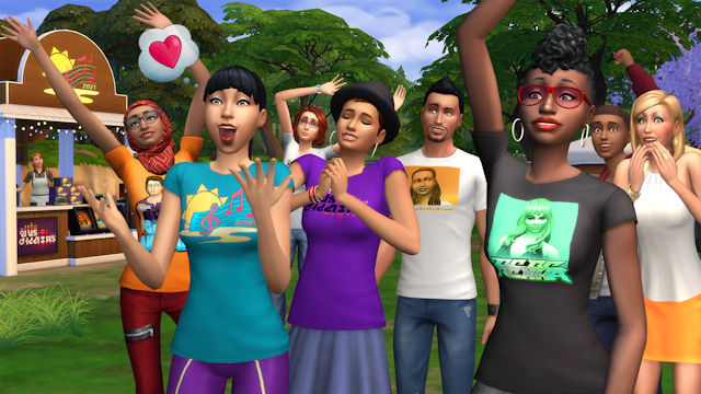 The Sims is hosting an in-game music festival