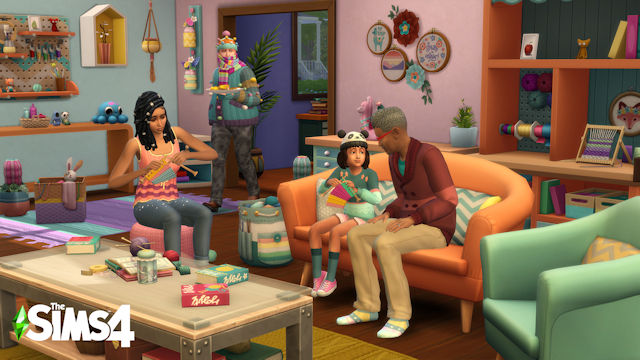 The Sims are taking up knitting