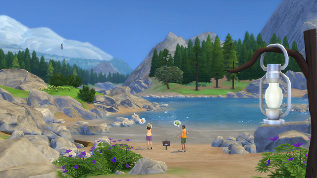 The Sims retreat to the great outdoors