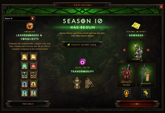 Diablo III Season 10 now live