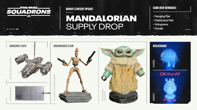 The Mandalorian dropping in on Star Wars: Squadrons