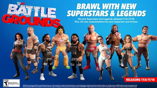 WWE 2K Battlegrounds adding ten new superstars