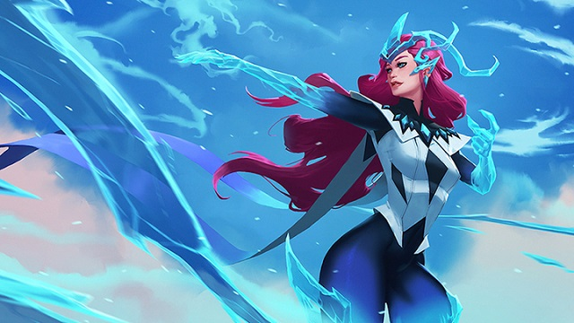 Alysia the Ice Weaver brings winter to Battlerite