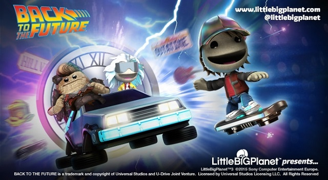 Sackboy goes Back to the Future