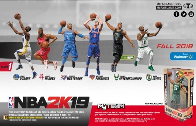 McFarlane Toys announces NBA 2K19 figure line