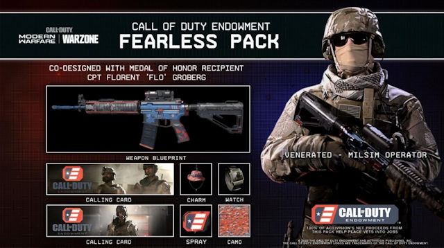 Call of Duty Endowment Fearless Pack released to help unemployed veterans