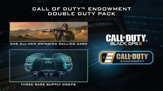 Get a Black Ops III Double Duty Calling Card and help vets