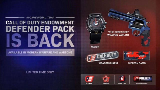 Call of Duty Endowment Defender Pack returns