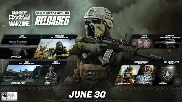 Modern Warfare updating Season Four