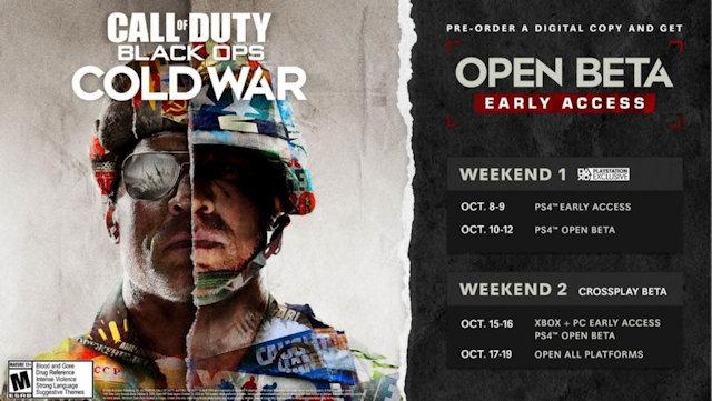 Black Ops Cold War beta dates set