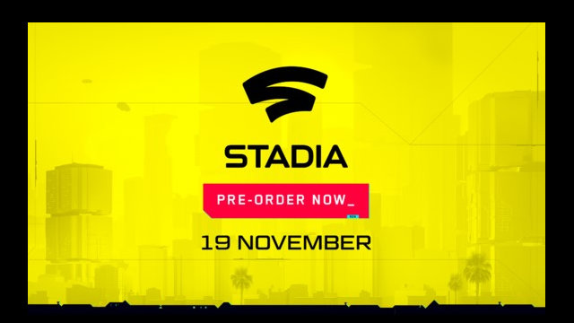 Cyberpunk 2077 coming to Stadia in November