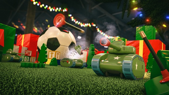 World of Tanks: Mercenaries celebrating Tankmas