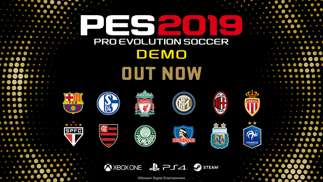 PES 2019 demo released
