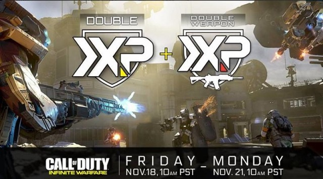 has activated Double Weapon XP for Call of Duty: Black Ops 3 . The XP