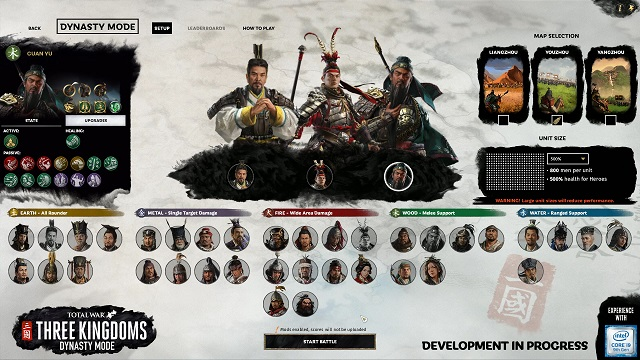 Dynasty Mode coming to Total War: Three Kingdoms