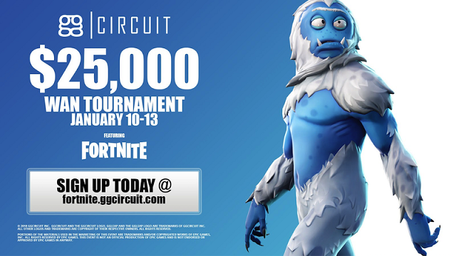 Fortnite Winter WAN Tournament announced