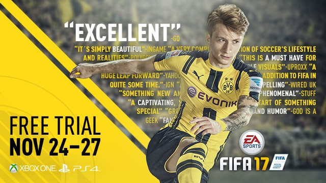 Play FIFA 17 for free this week