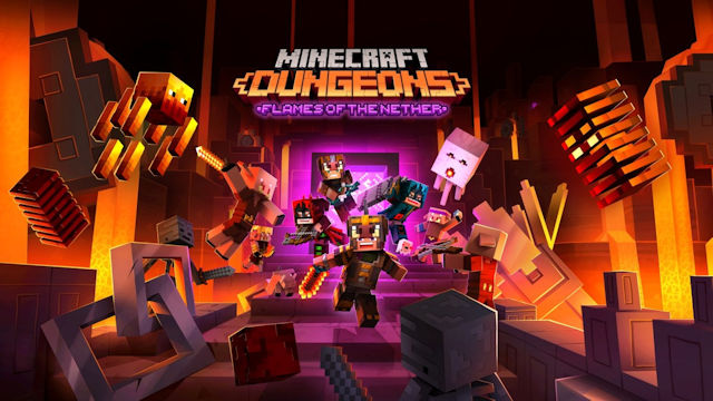 Minecraft Dungeons is on fire
