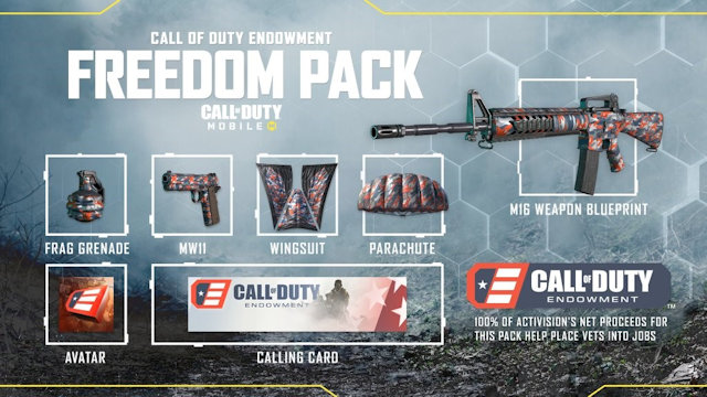 Freedom Pack available in Call of Duty: Mobile