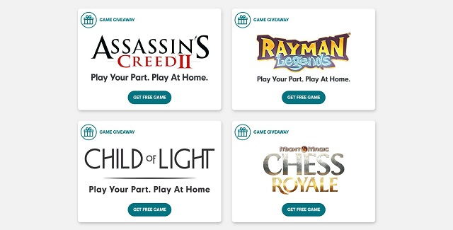 Ubisoft extends access to free-to-keep games for Play Your Part, Play at Home campaign