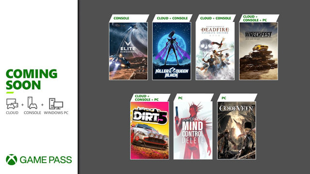 Seven games coming to Xbox Game Pass