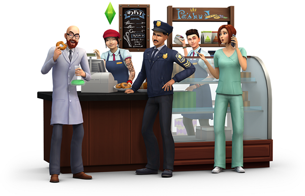 The Sims 4 ready to Get to Work