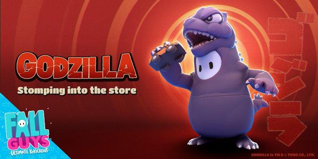 Godzilla invading Fall Guys