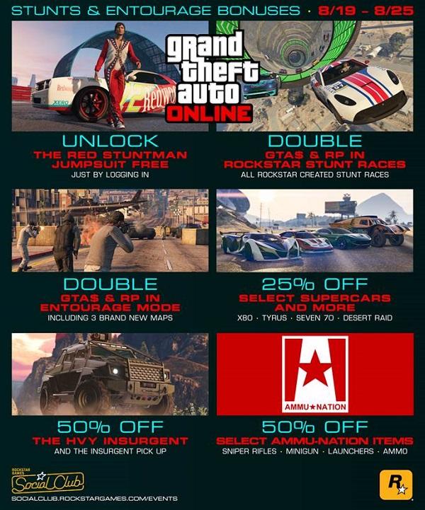 GTA Online kicking off next Bonus Week