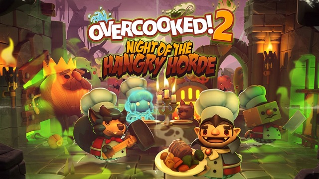 Overcooked 2 facing a hangry horde