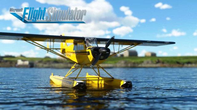 Husky A-1C lands on Microsoft Flight Simulator