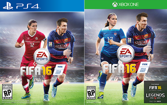 FIFA 16 in North America to feature franchise first female cover athletes