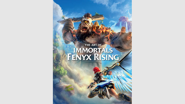 Immortals Fenyx Rising being immortalized in an art book