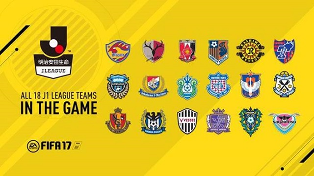 FIFA 17 to include J1 League