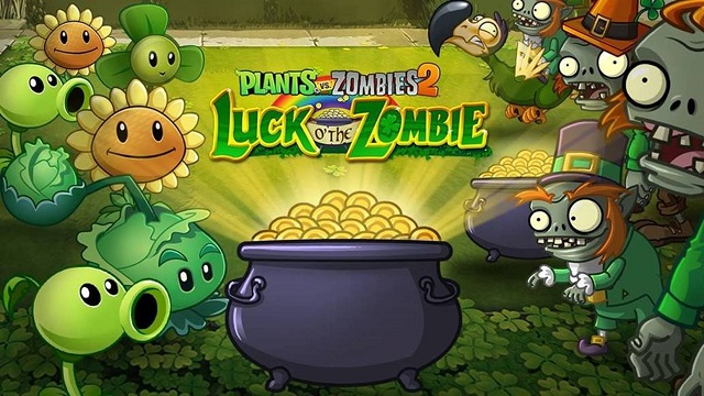Plants vs. Zombies 2 hits the Luck O The Zombie