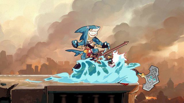 Mako the Shark surfs into Brawlhalla