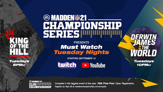 Madden NFL 21 Championship Series details announced