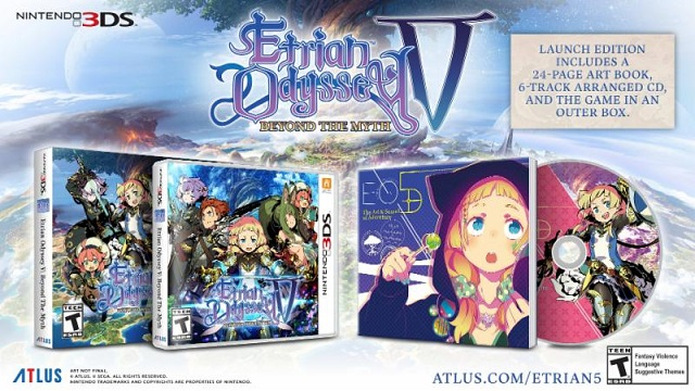 Etrian Odyssey V: Beyond the Myth Launch Edition revealed news image