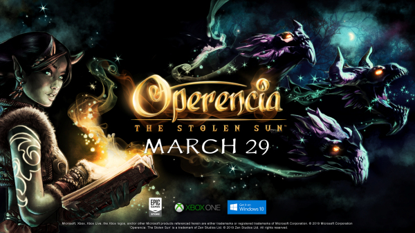 Operencia: The Stolen Sun releasing in March