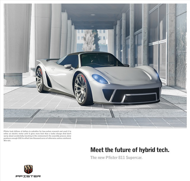 Pfister 811 Supercar races onto GTA Online