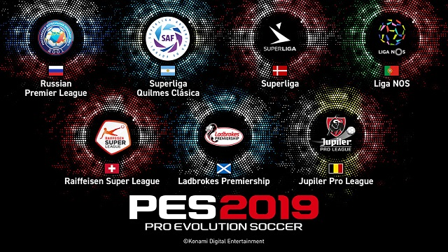 PES 2019 adds seven new leagues